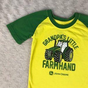 John Deere Tractor Shirt Grandpa's Little Farmhand